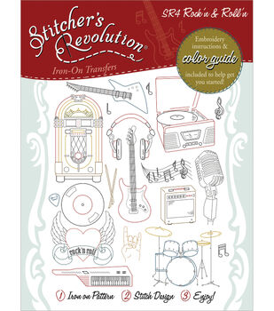 Aunt Martha's Sticher's Revolution Iron-On Transfers-Rock'n And Roll'n