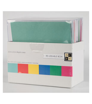 "DCWV 5-1/2""x5-1/2"" Box of Cards and Envelopes: Brights"