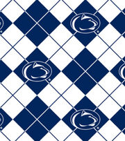 Penn State NCAA Argyle Fleece Fabric, , hi-res