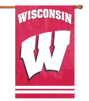 University of Wisconsin NCAA Applique Banner Flag, , hi-res