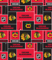 Chicago Blackhawks NHL Block Fleece Fabric, , hi-res