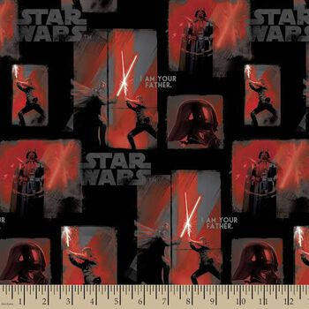 Star Wars™ Print Fabric-Luke I Am Your Father