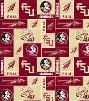 Florida State University NCAA  Fleece Fabric, , hi-res