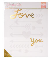 Creative Girl by Julie Comstock™ Watercolor Canvas Block Love You Arrows, , hi-res