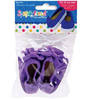 Springfield Boutique Slip On Shoes-Purple