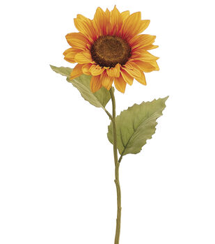 "Bloom Room 21.5"" Sunflower Stem-Yellow"