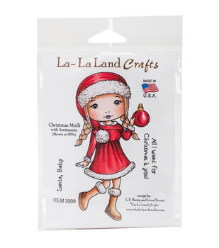 La-La Land Crafts Cling Stamp-Christmas Molli