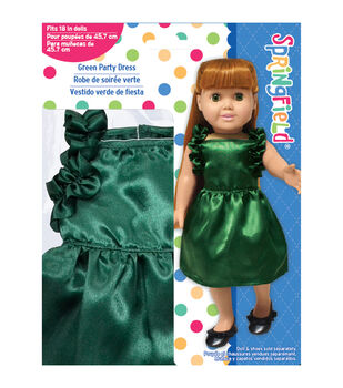 Springfield Boutique Hunter Green Ruffled Dress