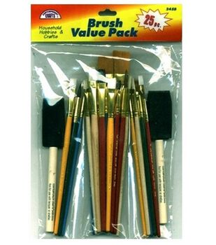 Contemporary Crafts Value Pack Brushes 25 Piece Set-Assorted