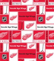 Detroit Red Wings NHL Block Fleece Fabric, , hi-res