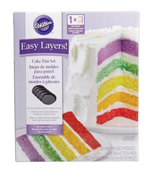 Wilton® Easy Layers! Cake Pan Set 5/Pkg-6""