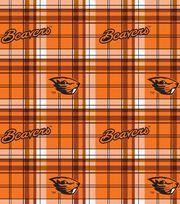 Oregon State NCAA Plaid Fleece Fabric, , hi-res