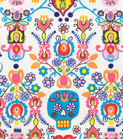 Alexander Henry Cotton Fabric-Calaveras Del Mar Natural, , hi-res