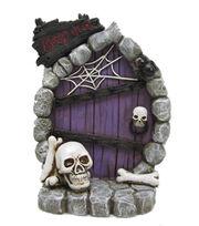 Maker's Halloween Littles Resin Door With Skulls & Spiderweb, , hi-res