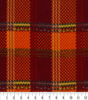 Anti-Pill Fleece Fabric-Autumn Plaid