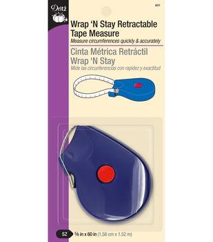 "Dritz® Wrap'n Stay Retract Tape Measure-5/8""x60"""