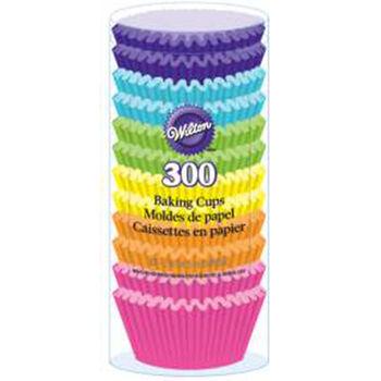 Wilton® Standard Baking Cups-Rainbow Brights 300/Pkg