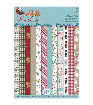 Papermania Jolly Santa 24ct A4 Single-Sided Paper Pack