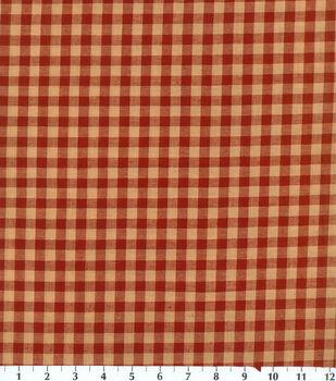 Homespun Cotton Fabric-Red Check