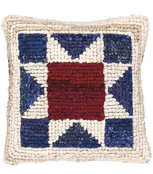 M C G Textiles Locker Hook Pillow Kit Americana Star