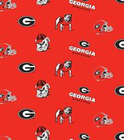 University of Georgia NCAA  Cotton Fabric, , hi-res