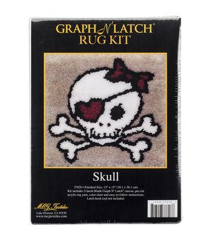 MCG Textiles Latch Hook Kit 15''x15''-Skull