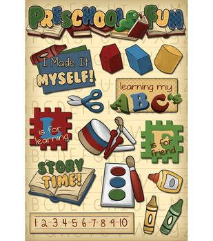 Karen Foster School Cardstock Stickers-Preschool Fun