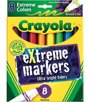 CRAYOLA 8 CT EXTREME MARKERS, , hi-res