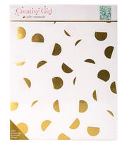 Creative Girl by Julie Comstock™ Watercolor Canvas Block Gold Dots, , hi-res