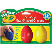 My First Crayola Easy Grip Egg Shaped Crayons 3pc-Blue, Red And Yellow, , hi-res