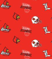 University of Louisville NCAA All-over Fleece Fabric, , hi-res