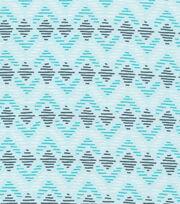 Cloud 9 Organic Cotton Knit Fabric-Diamond Lines Blue, , hi-res