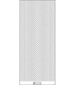 """Glitter Dots Assorti Stickers 4""""X9"""" Sheet-Violet"""