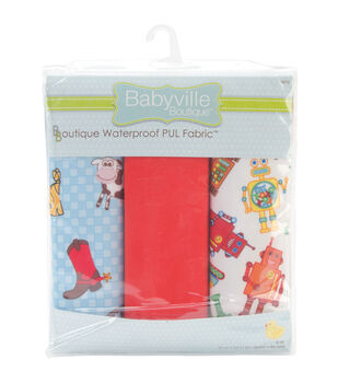 Babyville Boutique™ Waterproof Diaper Fabric Cut-Cowbaby & Robots