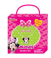 Disney Minnie Mouse Necklace Earring Set, , hi-res