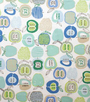 Alexander Henry Cotton Fabric-Apple Of My Eye Soft Pool, , hi-res