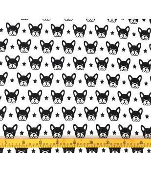 Doodles Juvenile Apparel Fabric-Boston Terrier Interlock
