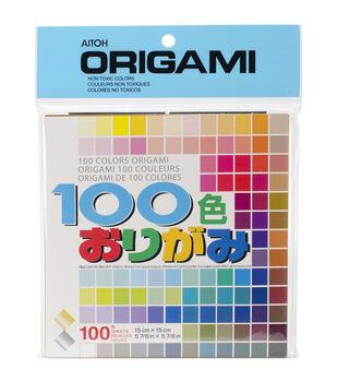 Aitoh 100 Colors Origami Paper 100/Pk