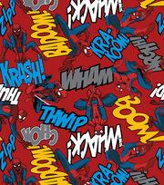 Marvel Spiderman Editorial Fleece Fabric, , hi-res