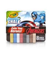 Crayola 8ct Sidewalk Chalk-Avengers, , hi-res