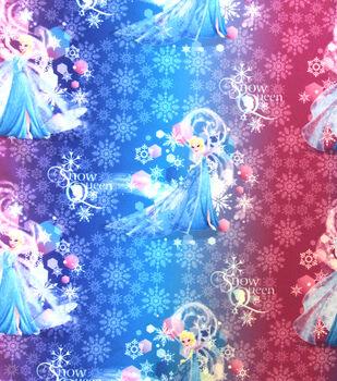 Disney Frozen Elsa Snow Queen Ombre Twill Fabric