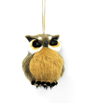 Maker's Holiday Furry Owl Ornament