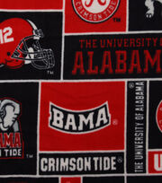 University of Alabama NCAA  Fleece Fabric, , hi-res