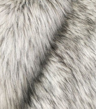 Fashion Faux Fur Fabric-Silver Fox