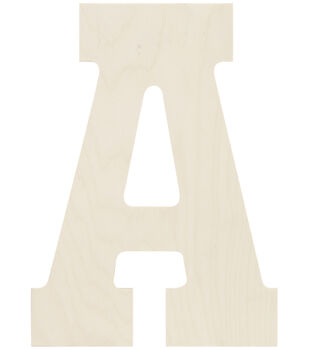 """Baltic Birch Collegiate Font Letters & Numbers 13.5"""""""