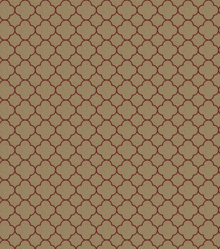 Eaton Square Print Fabric-Card/Brick