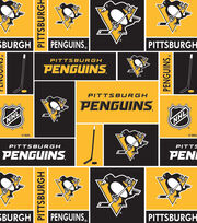 Pittsburgh Penguins NHL Block Cotton Fabric, , hi-res