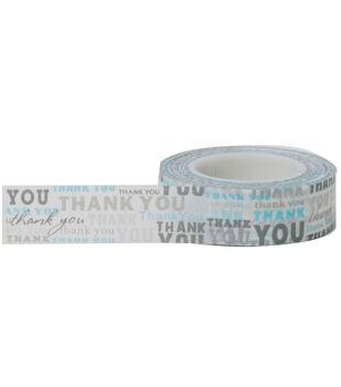Little B Decorative paper Tape 15mmx15m-Thank You