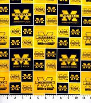 University of Michigan NCAA  Cotton Fabric, , hi-res