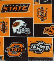 Oklahoma State University NCAA  Fleece Fabric, , hi-res